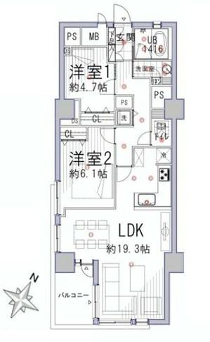 ライオンズマンション南平台303間取り.jpg