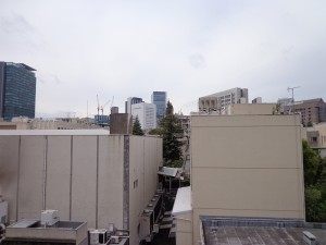 青山コーポラスのバルコニーからの眺望