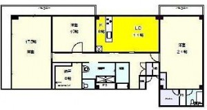 赤坂アーバンライフ7階部分間取り図