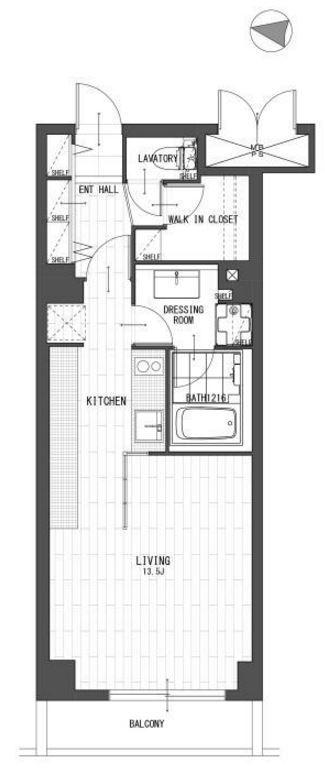 秀和桜丘レジデンス-4F部分間取り図
