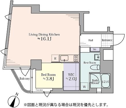 タウンハウス赤坂3F‗間取り図