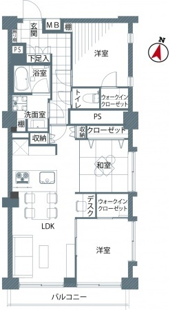 チサンマンション原宿4F-間取り図