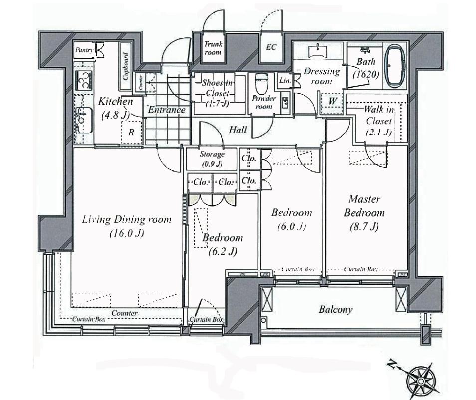 六本木ヒルズクラブレジデンス29階間取図