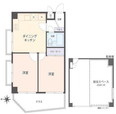 メイゾン南麻布2F部屋+駐車場