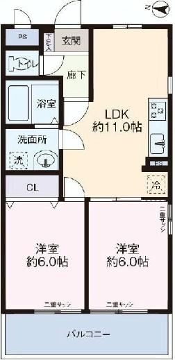 ライオンズマンション原宿3F_間取り図