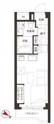 バルミー赤坂_3F間取り図