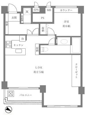 スカイプラザ赤坂303間取図.jpg