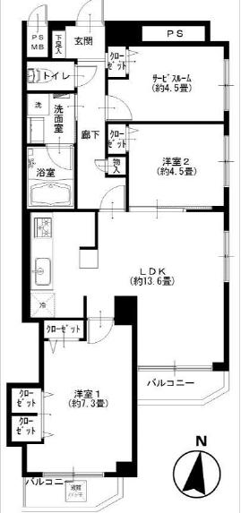 ライオンズマンション広尾第2_601間取図.jpg