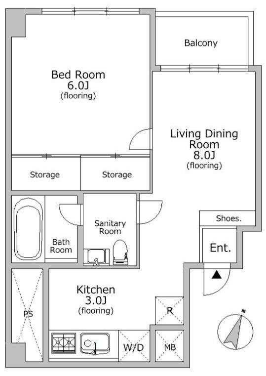 シャトー東洋南青山412号室 (1)