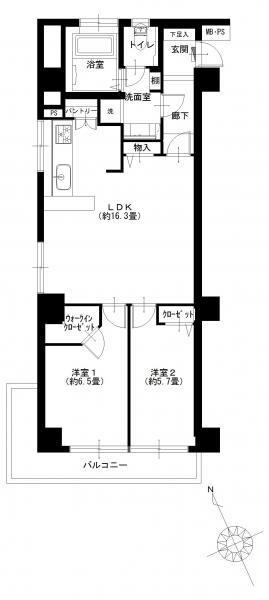 秀和六本木レジデンス610号室 (1)