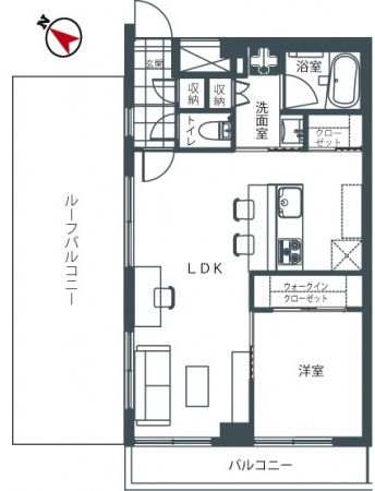 松濤ハウス_8F間取り図