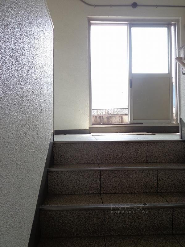 秀和六本木レジデンス-屋上階段
