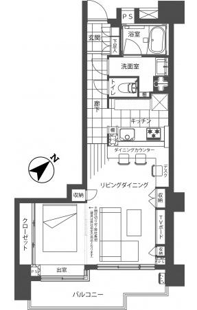 藤和渋谷常磐松ホームズ602号室 (1)