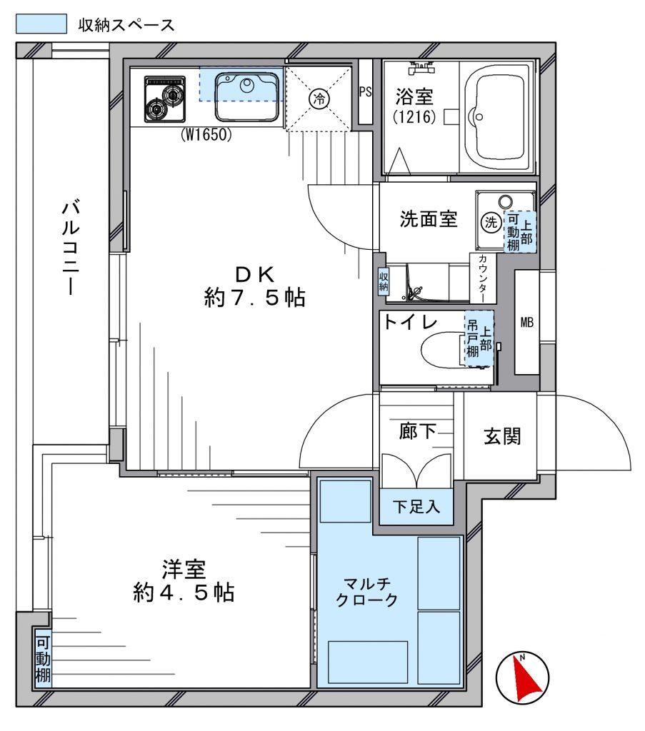 GSハイム南青山_4F 間取り図