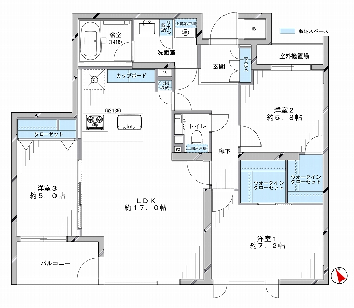 グレディール赤坂_2F間取り図