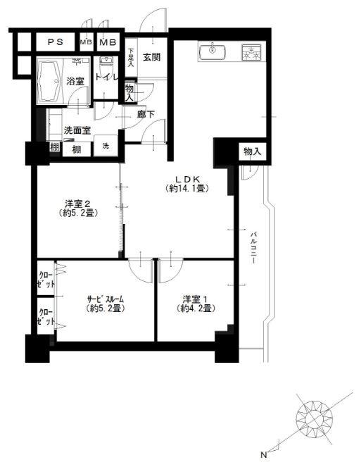 南平台セントラルハイツ510号室 (1)