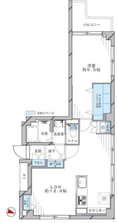 ヴェラハイツ赤坂5F_間取り図