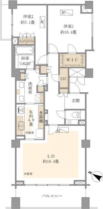 パークハウス赤坂新坂パークハウス赤坂新坂4F_間取り図