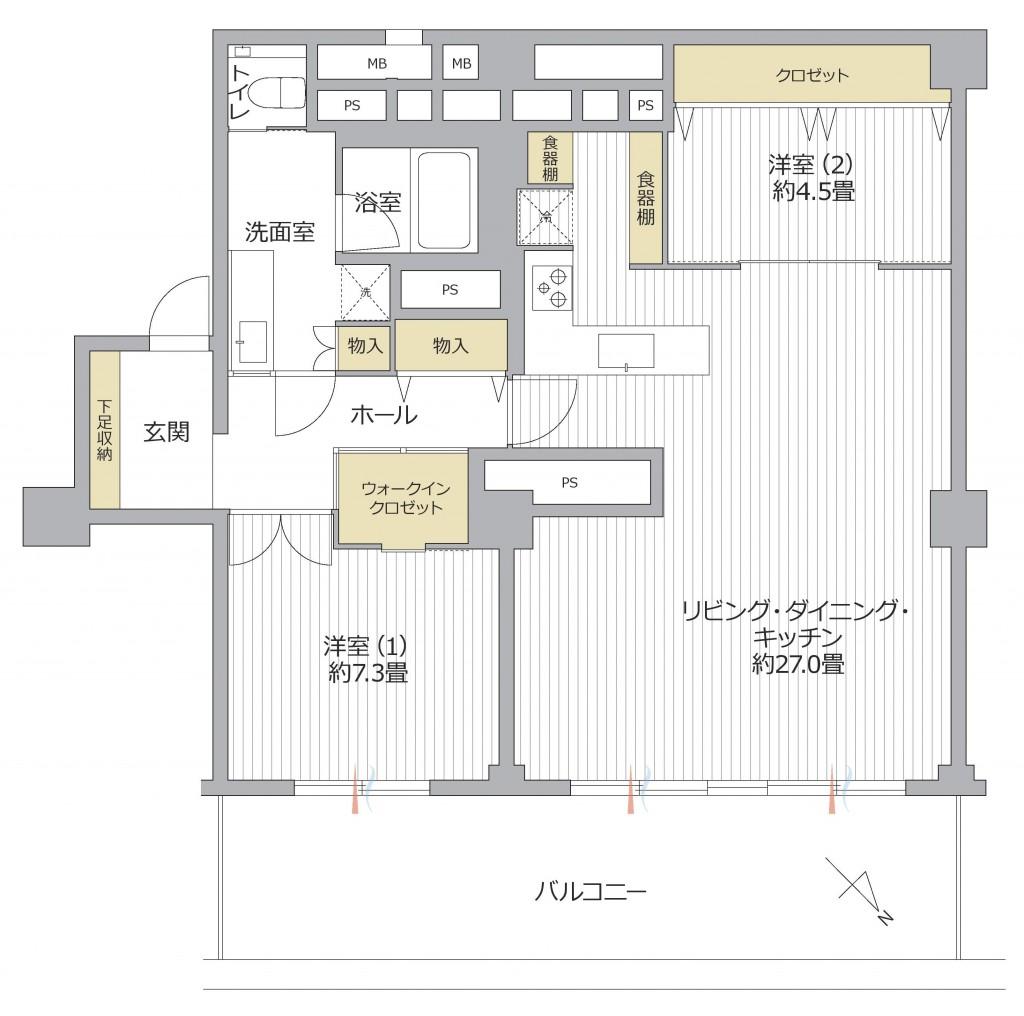 南平台セントラルハイツ7階部分 (1)