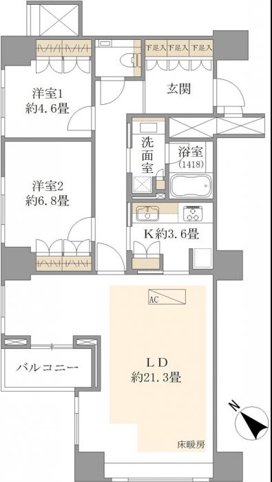 パークハウス赤坂氷川2F部分madori