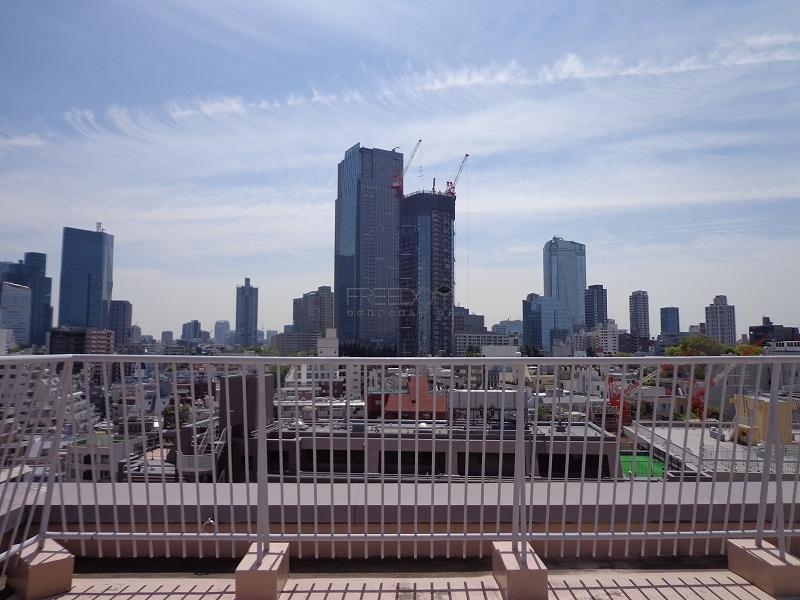 赤坂アーバンライフの屋上からの眺め