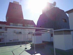 南青山スカイハイツの屋上