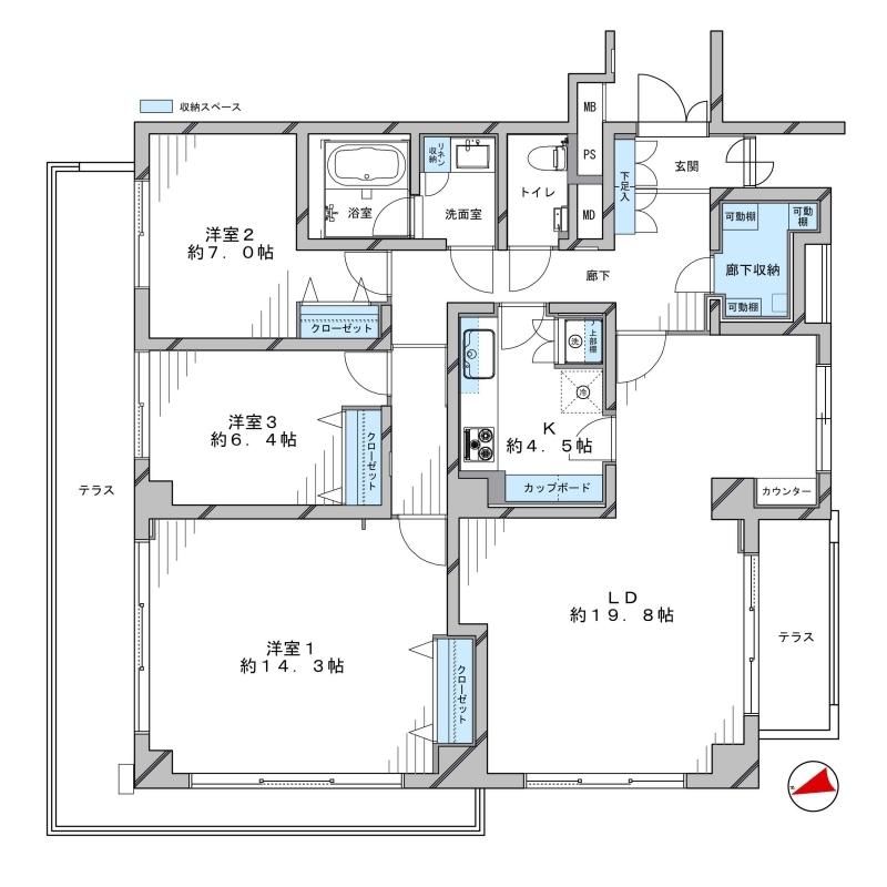 ドムス青山4階部分