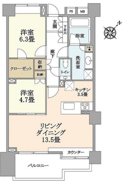 藤和渋谷常盤松ホームズ-間取り図