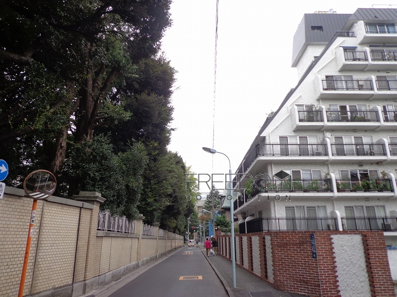 秀和三田綱町レジデンス-前面道路