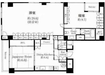 メゾンドール北参道_4F間取り図