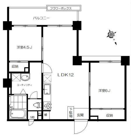 チサンマンション原宿_3F間取り図