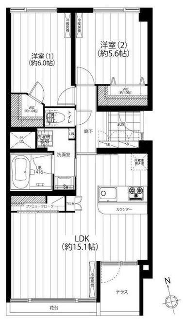 川口アパートメント_4F間取り図